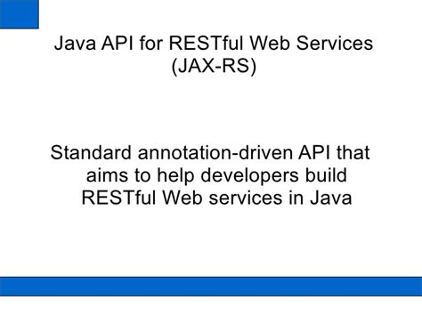 Restfull Webservices With Jax-rs
