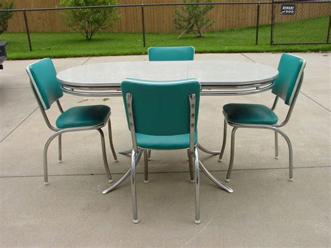 chrome table and chairs vintage retro 1950 39 s formica and chrome kitchen table and