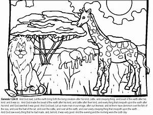 six days of creation coloring pages