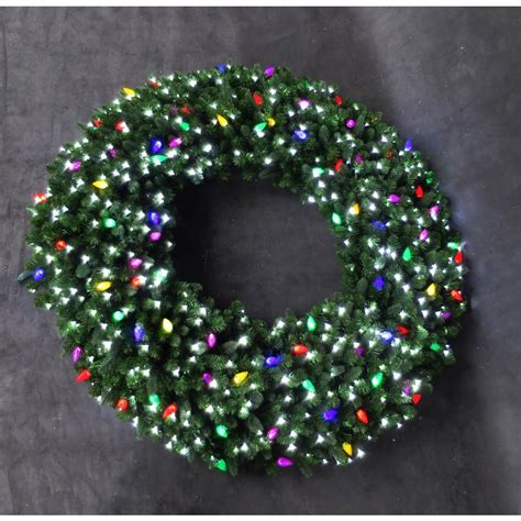 60 inch lighted outdoor christmas wreath home accents 60 in led pre lit artificial wreath with micro style white