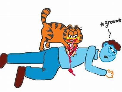 Garfield Eating Jon Doodle Dies Lasagna He