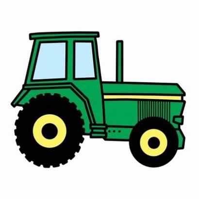 Clipart Tractor Clip Tractors Farm Cartoon Deere