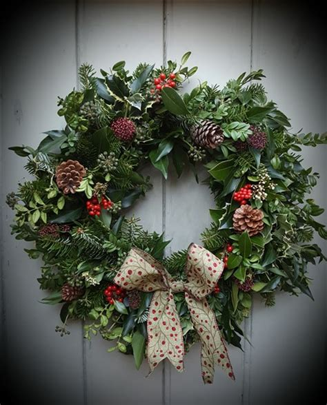 traditional christmas wreaths ideas traditional luxury christmas wreath hedge rose