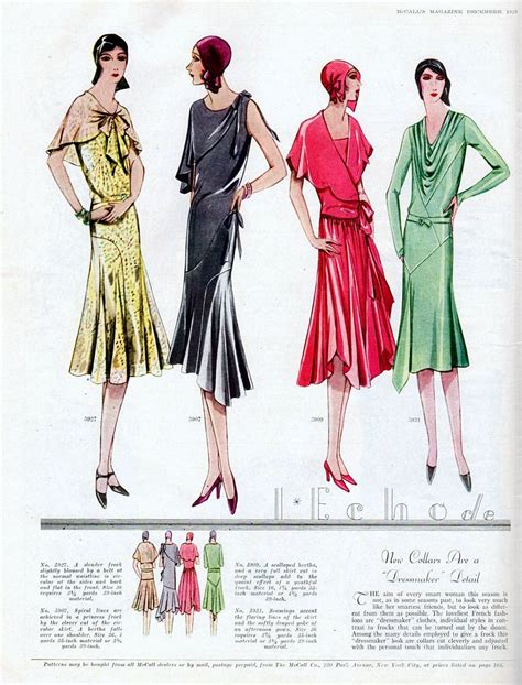 vintage deco fashion from 1929
