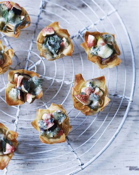 easy canapes to in advance blue cheese and fig recipe brie bites goat