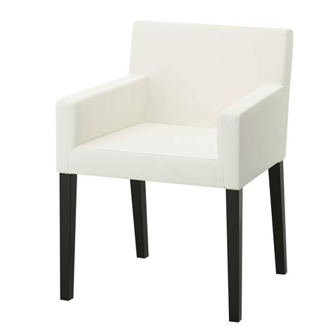 chaises accoudoirs nils chair with armrests black blekinge white ikea