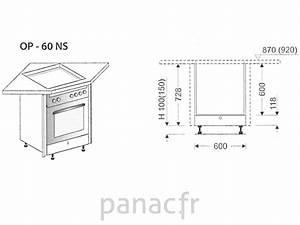 meuble d39angle sous plaque de cuisson op 60 ns With meuble d angle pour plaque de cuisson