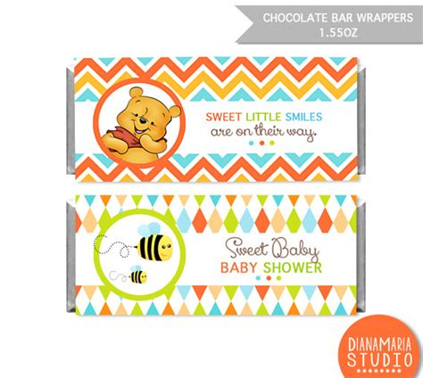 Winnie The Pooh Cake Template by Chocolate Bar Wrapper Winnie The Pooh Printable Wrapper