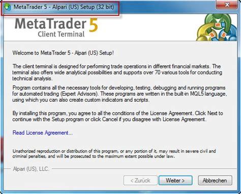 mt4 64 bit how to install metatrader 32bits in windows 64 bits mt5