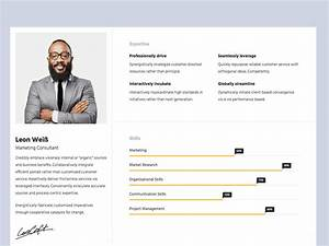 resumex free responsive html5 bootstrap resume portfolio With cv website template free