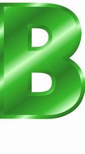 green metal letter capitol B - /signs_symbol/alphabets ...