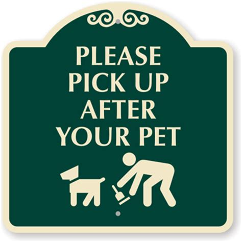 please pick up after your pet sign 18 in x 18 in