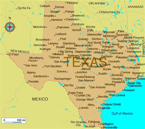 map  texas  state texas map