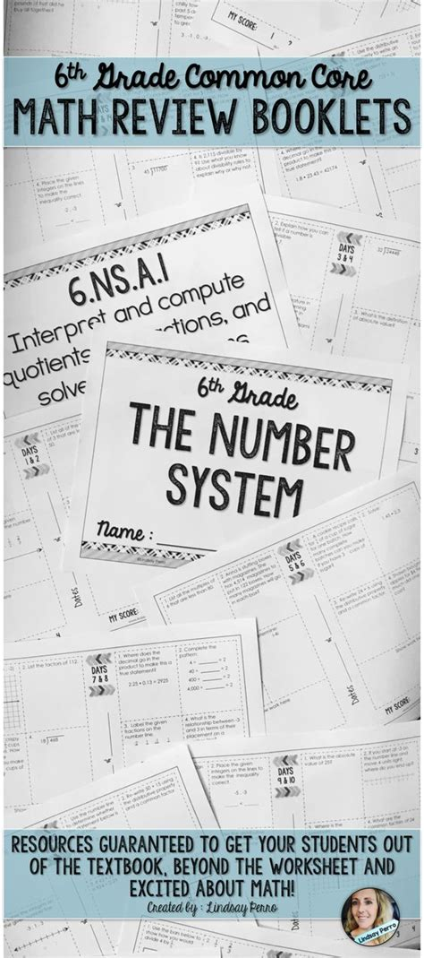 These 6th Grade Math Review Booklets Align Perfectly To Common Core (and Most Other Standards