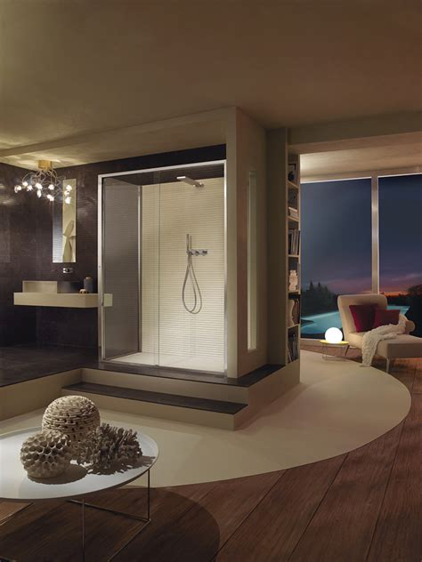 cabina doccia angolare  anta scorrevole elettronica