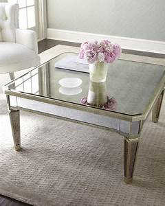 amelie mirrored coffee table With mirrored coffee table and end tables