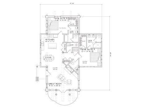 telluride log home floor plan