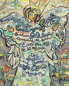 Guardian Angel Painting by Jen Norton