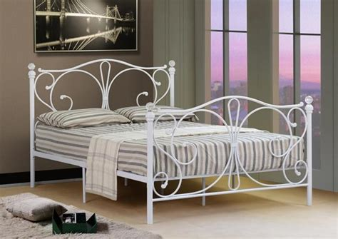 Plain Metal Bed Frame by 4ft 4ft6 5ft King Black Or White Metal Bed Frame