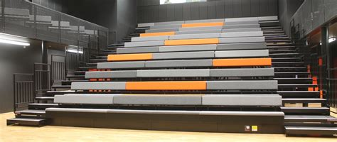 retractable bleacher auditorium seating folding seats