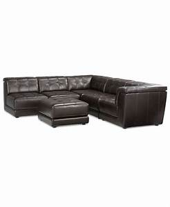 stacey leather 6 piece modular sectional sofa 3 armless With 6 piece modular sectional sofa leather