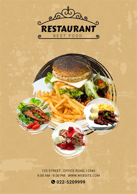 lunch menu design template  psd word publisher