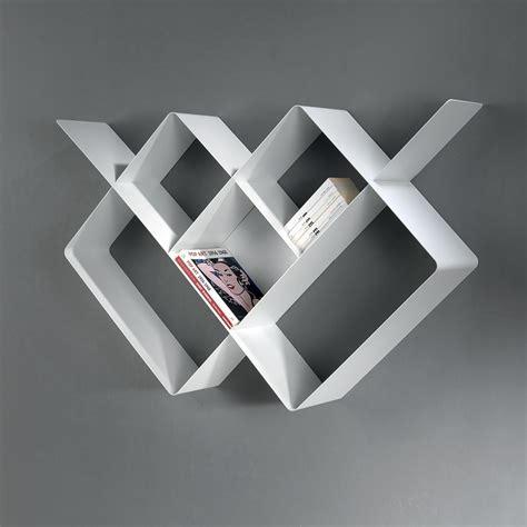 canape designe étagère murale design loft 125 82 cm métal blanc