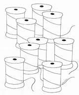 Coloring Spools Weefolkart sketch template