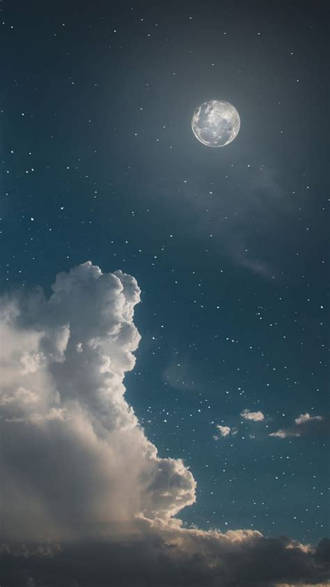 Aesthetic Background Pictures by Sky Aesthetic Wallpaper Clouds Moon And Sky
