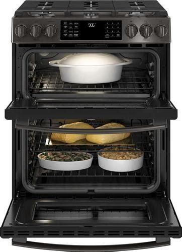 pgsbelts ge profile    double oven gas range black stainless steel