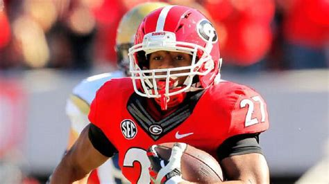 georgia running  nick chubb  poised   run