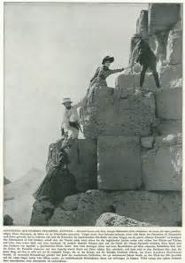Egyptian People Climbing Pyramids