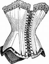 Corset Line Corsets Coloring Crinolines Farthingales Various Thatscrafty sketch template
