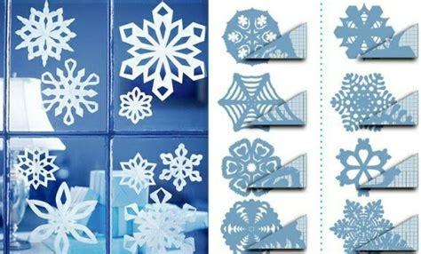 schneeflocken basteln papier fensterdeko zu weihnachten 67 bilder archzine net