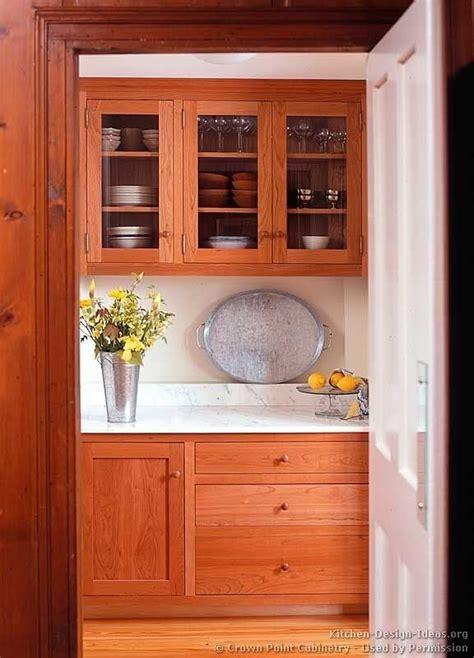 Cherry Wood Kitchen Pantry Cabinet 11emerue