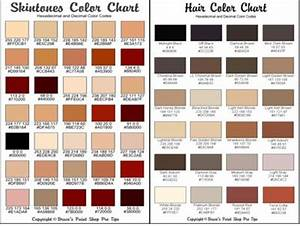 Colour Mixing Chart For Artists Hexadecimal Codes For Hair And Skin Skin Color Palette