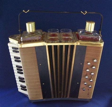 Unique Bar Accessories by Vintage Accordion Bar Accessories 2 Glass Decanters 4