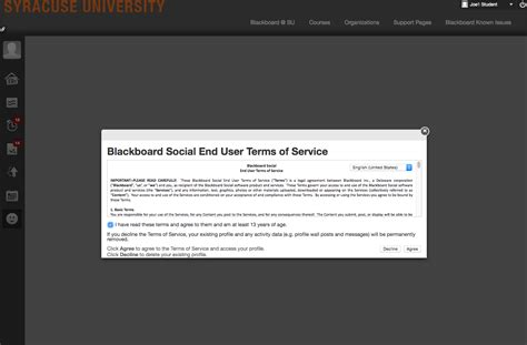 blackboard help desk blackboard learn how to change your blackboard profile
