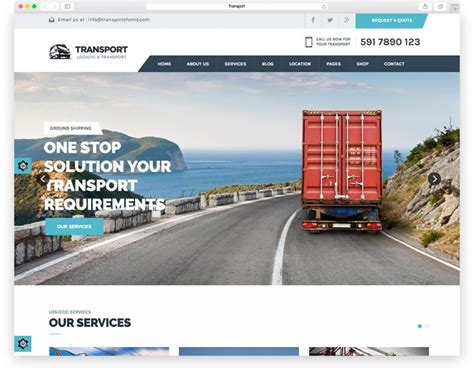 Transport Website Template by Top 10 Best Transportation And Logistics Html Website