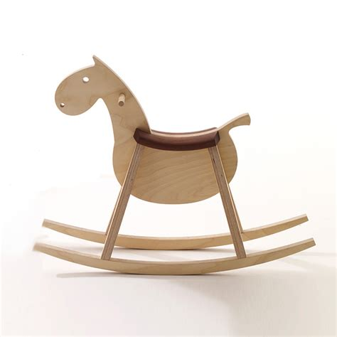 cheval 224 bascule bois mustang sixay enfants design from