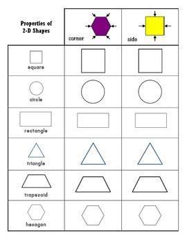 shapes worksheets    images shapes