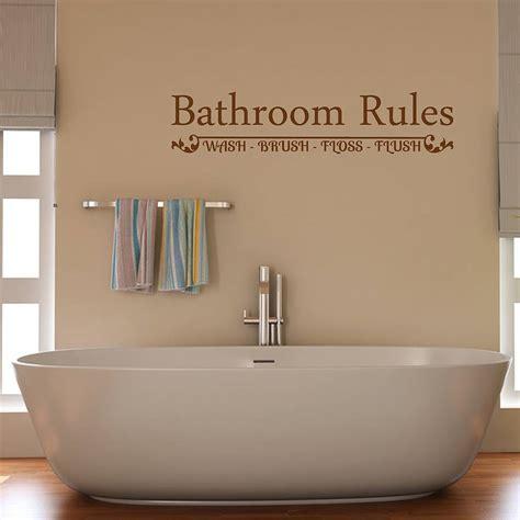 bathroom rules wall sticker  mirrorin