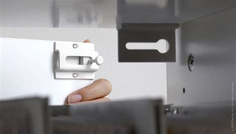 invisible covert drawer lock uses magnets wired