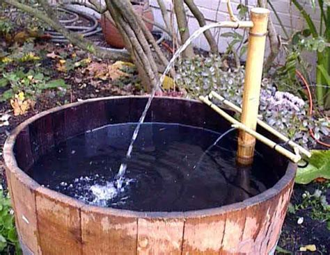 Barrel Water Garden Tub