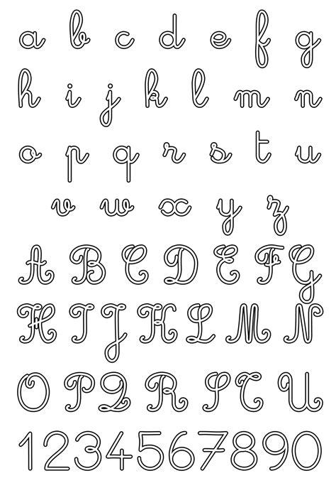 lettere alfabeto e numeri da stare e colorare lettere e numeri lettere e numeri corsivo maiuscolo e 19415