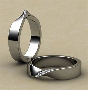 mobius wedding ring in 18ct white gold and set with tiny With mobius wedding ring