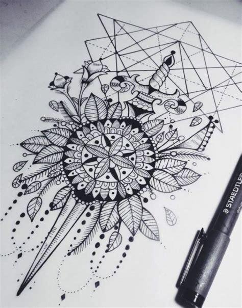 mandala symbole bedeutung mandala skizze zeichnung schwraz weiss ideen mandala vorlagen