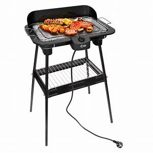 elektrogrill bbq standgrill barbecue grillwagen schwarz With elektrischer tisch