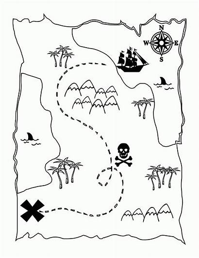 Coloring Treasure Map Printable Activity Popular