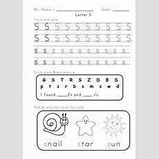 Letter 's' And 'a' Worksheets By Vigunya  Teaching Resources